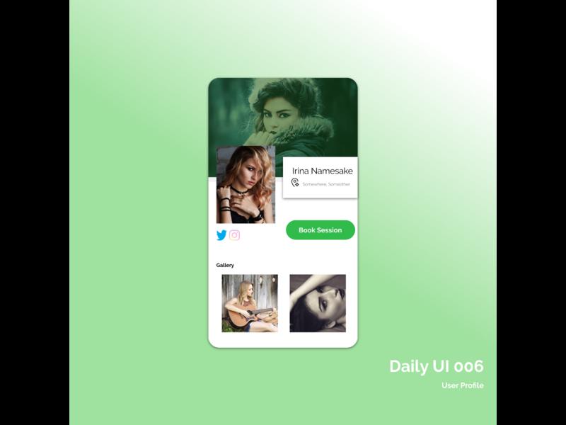 DailyUI 006 dailyuichallenge dailyui ui daily studio