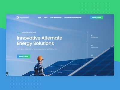 Landing Page : Green Energy firstshot landing page website web ux branding ui design