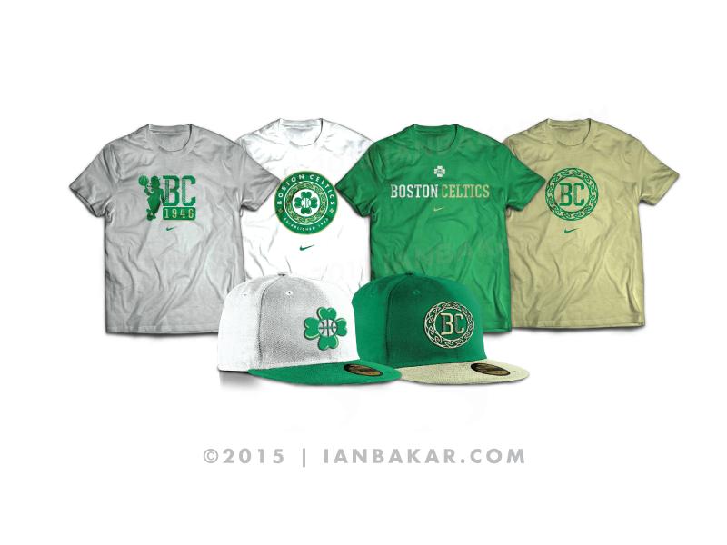 newest collection 84dfb 07ff4 Rebranding the Boston Celtics - Gear by Ian Bakar on Dribbble