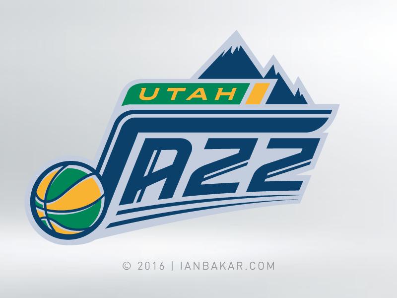 Mountains. And Jazzier Type branding sports logo nba basketball utah jazz