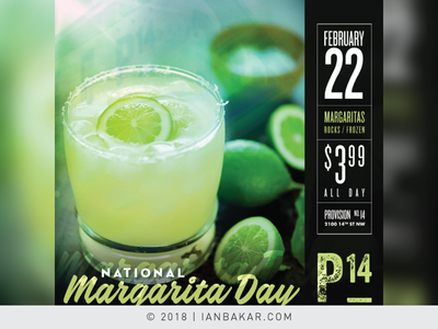 DC-Area Dine/Party Venue Event Promos - Nat'l Marg Day
