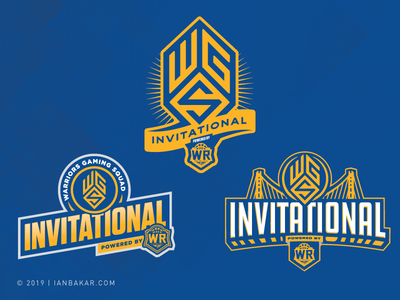 Warriors Gaming Squad Invitational, Unused Designs warriors gaming esports event branding basketball nba