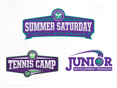Tennis Club and then some... club tennis system identity sports logo branding
