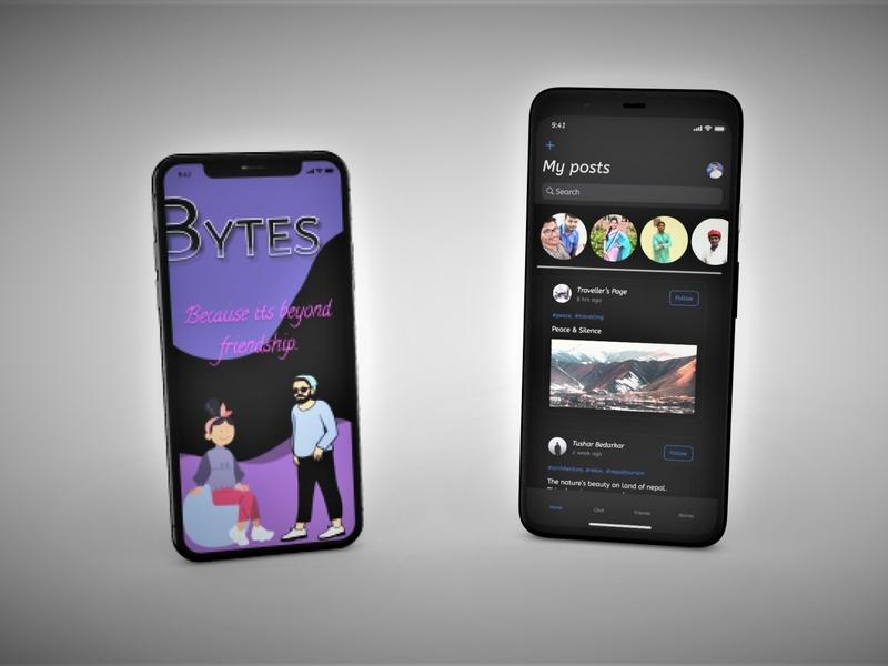 BYTES Chat App chat app mobile app ui design ux