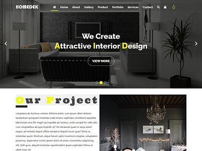 Homedek website design wordpress design web development responsive web design psd to html online store online shop landing page design email template email signature ecommerce design