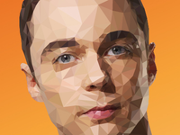 Sheldon Cooper - Low-Poly Illustration