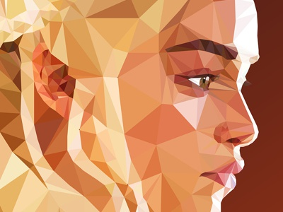 Daenerys - Low poly Game of Thrones 3d red art character clean color design minimal vector game of thrones low-poly blue