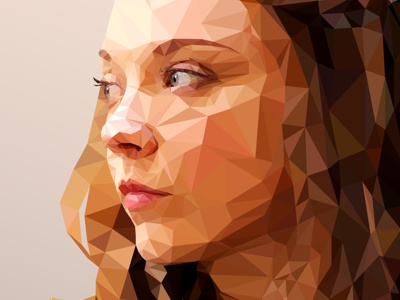 Margaery - Low poly Game of Thrones design vector 3d art character clean color minimal blue game of thrones green orange