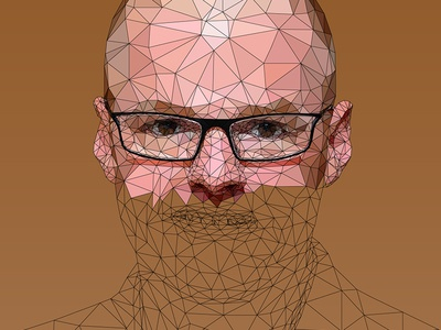 Heston Blumenthal - Low Poly Illustration
