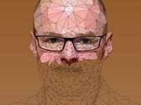 Heston Blumenthal - Low Poly Illustration