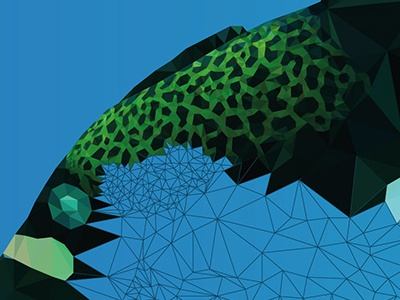 "More from ""Underwater Life"" low-poly polygons illustration green web design ocean blue clean design vector graphic design red"