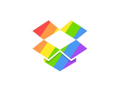 Dropbox Pride dropbox pride logo glyph rainbow