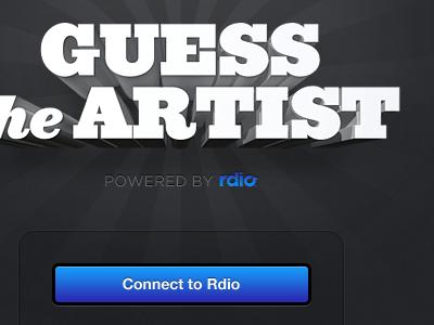 Guess Artist rdio ziggurat button