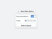 Rdio Station settings