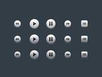 New Rdio Player Buttons