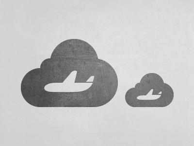 Departures, Cloud Style plane travel icon pictograph cloud