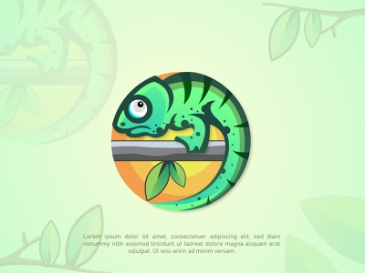 Chameleon Logo cute animal art lizard wilderness jungle fun logo reptile mascot character wild animal creative logo illustration logo design mascot mascotlogo animal illustration animal logo colourful logo brand identity business logo chameleon logo