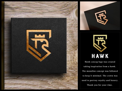 Hawk Luxury Logo eagle geometic sophisticated fashion jewellery branding elegant monogram brand indentity mark luxury brand line art monoline gold foil minimal luxury timeless gold copper highend