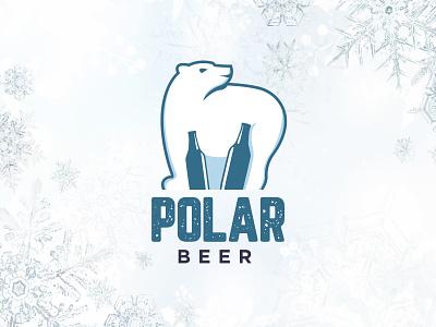 polar BEER logo company graphic modern wild sale animal art branding logo mark vector geometric illustration flat unique creative emblem icon animal polarbear beer