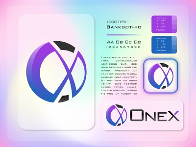 OneX Concept Logo mobile app design innovation apple gadget android app software 3d logo 3d gradient logo abstract logo app icon sci fi technology holographic neomorphism uxdesign uidesign modern logo startup icon