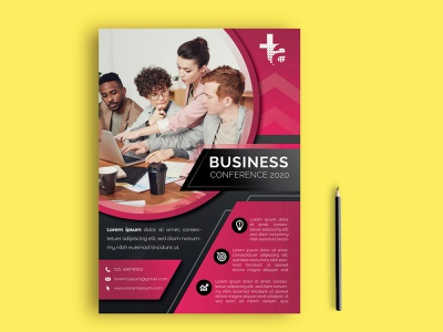 Modern Business Flyer art ux design ui meeting conference wall street high end brand indentity branding business flyer mockup brochure brand identity corporate flyer print