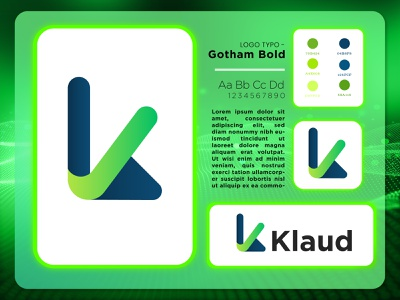 K letter Logo vector green innovate k letter logo ios app design android app tech branding neon logodesign app design cloud computing futuristic crypto cybersecurity ux abstract logo ui
