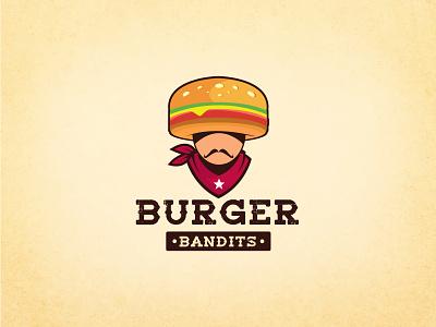 Fun Burger & Cowboy Logo foodlogo vintagelogo cartoon logo mascotlogo funlogo resturantlogo burgerlogo wildwest texas cowboy ui illustration design logo art icon branding abstract logo minimalistlogo flatlogo