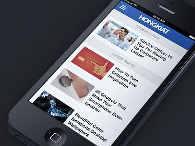 Hongkiat.com Revamp redesign hongkiat responsive mobile revamp teaser mockup iphone