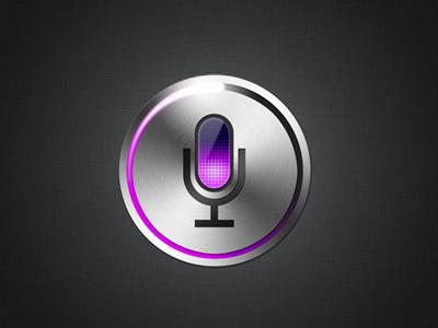 Siri Icon siri icon metal iphone4s psd tutorial