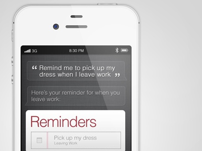iPhone 4S iphone4s siri phone touch white apple mockup psd tutorial