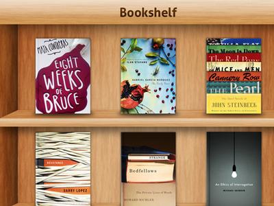 """iPad-Inspired"" Bookshelf bookshelf wood texture book cover mockup photoshop psd ipad inspired"
