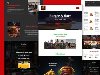 Burger shop website branding app designer user interface design website design restaurant food website uxui app ux design web design ui