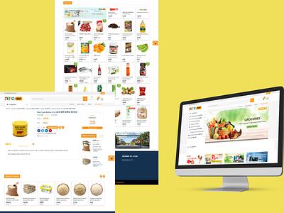 A Grocery E-Commerce app designer uiux branding photoshop ecommerce website web page design ui app ux design website design