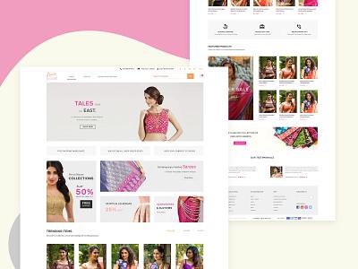 House of Blouse_Landing Page customize product fashion design women customize blouse revamp branding agency website design illustration design