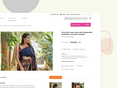 House of Blouse_Fashion and Design 3d character modeling fashion brand revamp shopping website design women sarees products models customize blouse branding agency