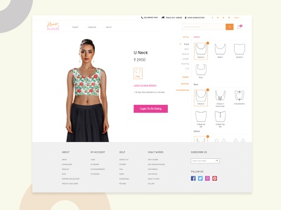 House of Blouse_Customization fashion design shopping products models women website design revamp blouse customize branding agency