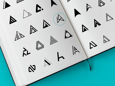 Acute Angle Branding ux uiuxdesign ui testing testing branding agency vector logo illustration explorations exploration visual brand logo alphabet brand assets acuteangle branding