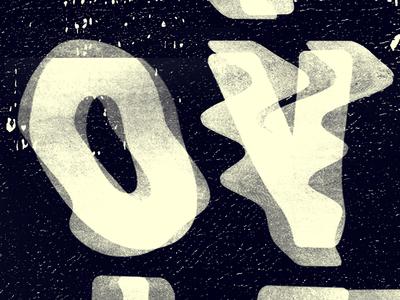 O-V.. Yo grunge trippy photocopy black white cream texture repeat