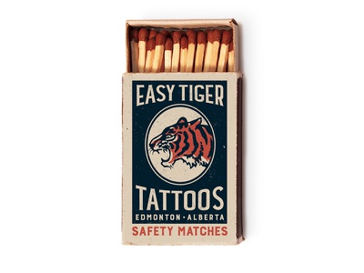 Easy Matches alberta easy tiger tattoo edmonton matches vintage