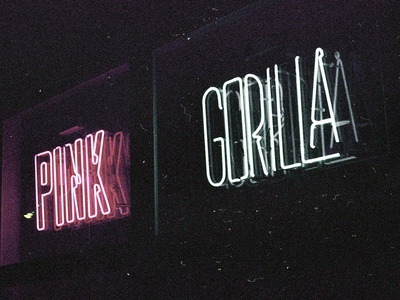 Pink Gorilla Neon Sign