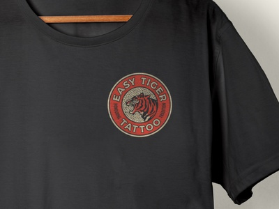 East Tiger Shirt typography canada vintage alberta edmonton dots texture tattoo tiger apparel tshirt