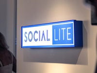 Social Lite Sign