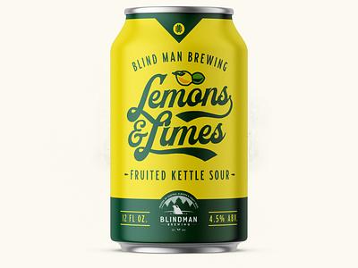 Blindman Can Concept concept craft beer lime lemon brewer alberta edmonton packaging beer can beer