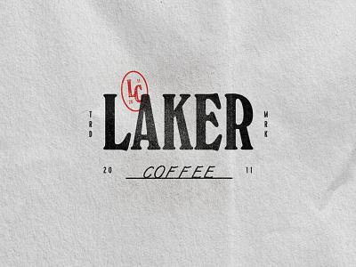 Laker Coffee monogram stamp typography vintage coffee shop canada coffee alberta edmonton