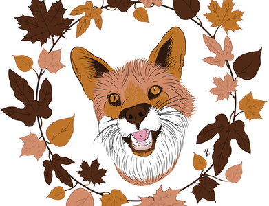 Mr Fox fox illustration animal illustration animal art autumn autumn leaves foxy fox design adobe illustrator adobe illustration