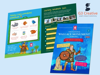 Kids activity book designed by G3 Creative wallacemonument g3creative graphicdesign activity book