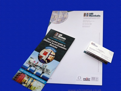 HB Rentals brochure by G3 Creative in Scotland flip page brochure
