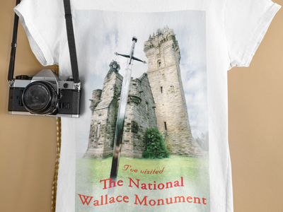 National Wallace Monument T-shirt ui logo t-shirt print t-shirt national wallace monument national wallace monument