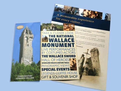 Wallace Monument in Scotland creativeagency graphicdesign g3 creative national wallace monument