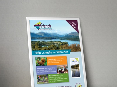 Friends of Loch Lomond poster by G3 Creative graphicdesign g3 creative design poster friends of loch lomond